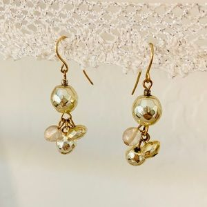 American Eagle gold bead drop earrings